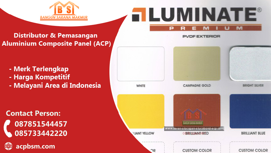 PILIHAN WARNA ACP LUMINATE
